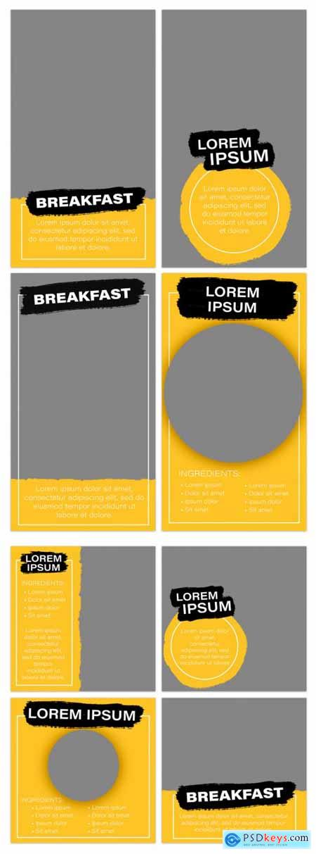Social Media Layout Kit with Yellow and Black Accents 344611307