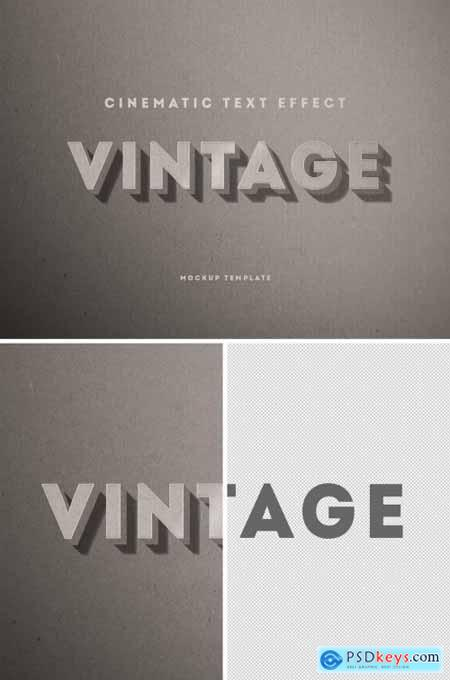 Vintage Hollywood Film Mono Chrome Text Effect Mockup 344588099