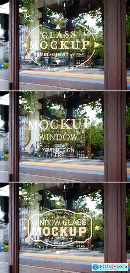 Window Glass Logo Mockup 343976053