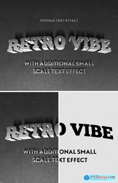 3D Vintage Western Film Mono Chrome Text Effect Mockup 344586594
