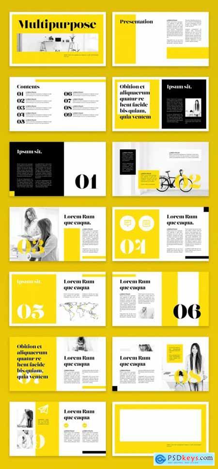 Yellow and Black Digital Magazine Layout 344658921
