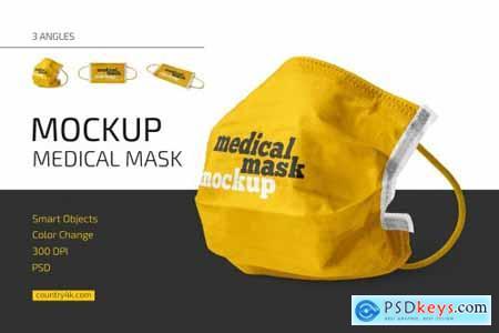 Medical Mask Mockup Set 4852071