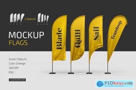 Feather Flags Mockup Set 4847381