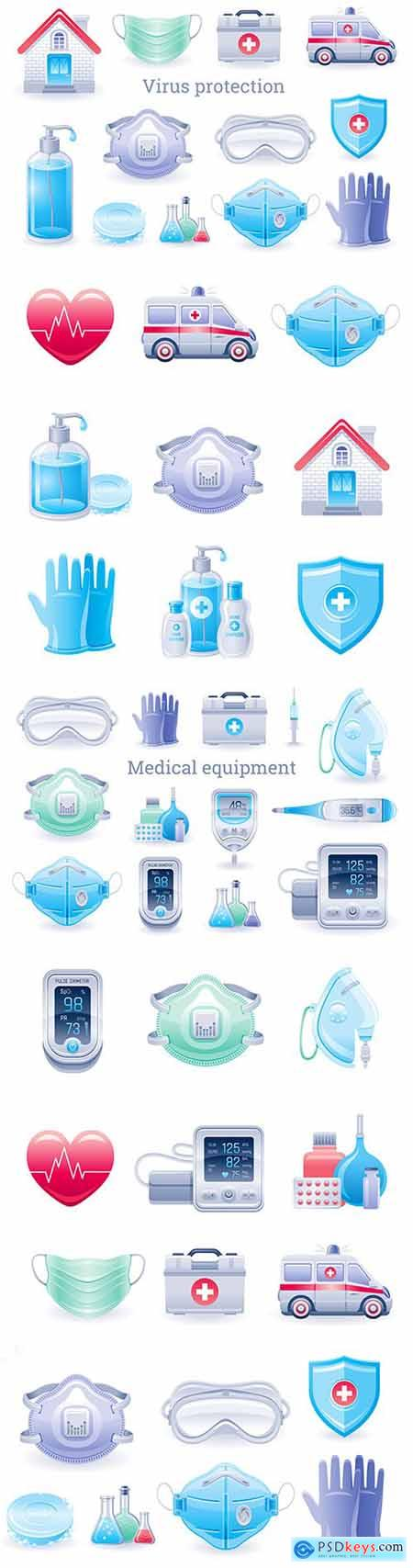 Virus protection and prevention kit medical equipment