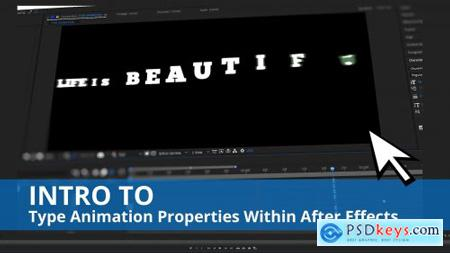 Intro To Type Animation Properties Within After Effects