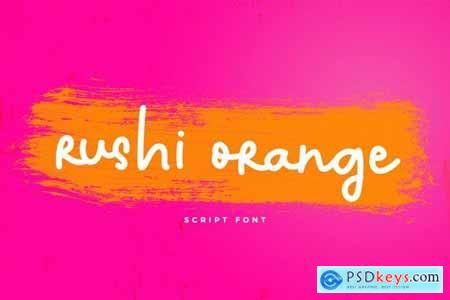 Rushi Orange Font