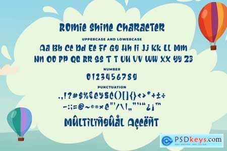 Romie Shine - a Cute Sans Serif Font