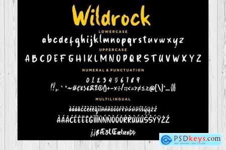 Wildrock Handwritten Brush Font