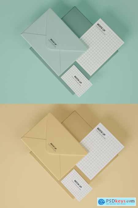 Stationery Mockup with Business Card, Envelope and Postcard 339303774