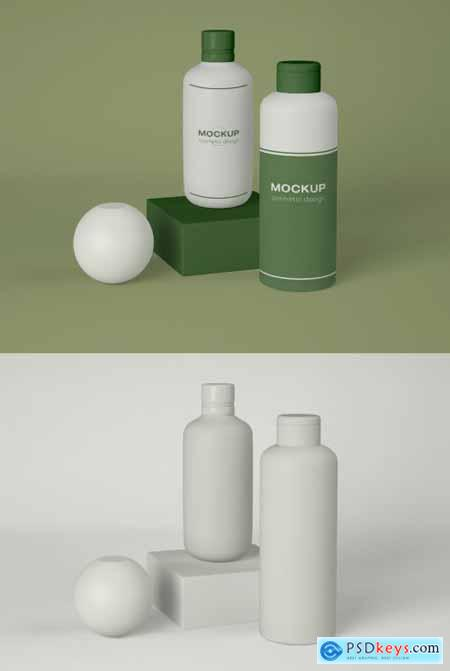 Two Cosmetic Bottles Mockup 339307924