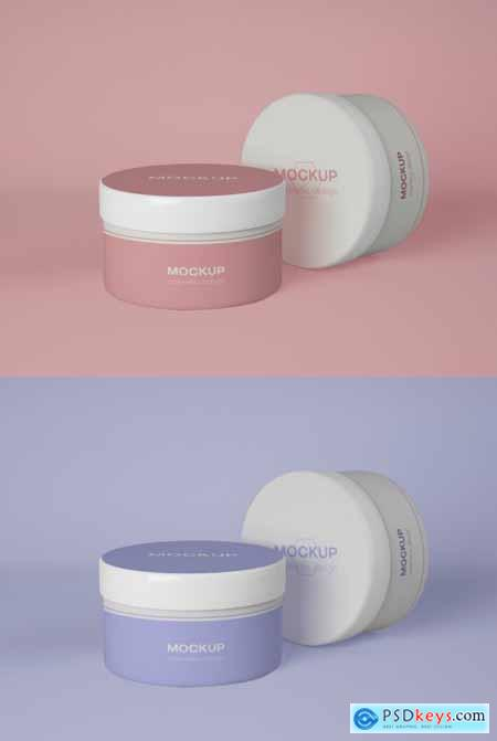 Two Cosmetic Containers Mockup 339308545