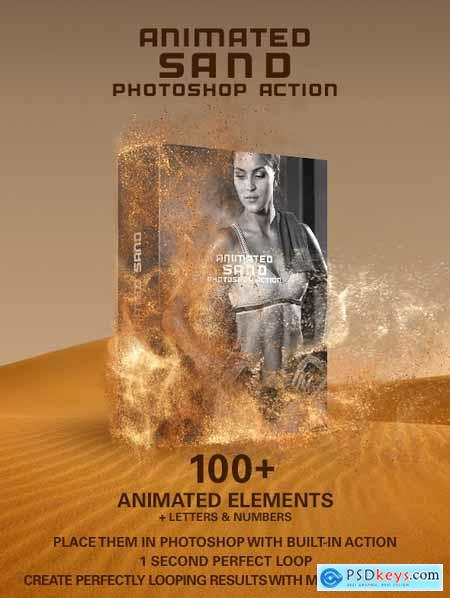 Animated Sand Photoshop Action 23685536