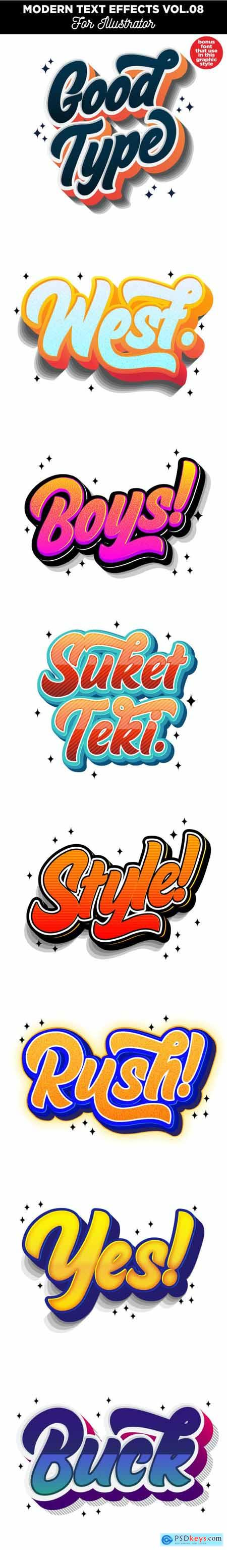 Modern Text Effects for Illustrator 24718574
