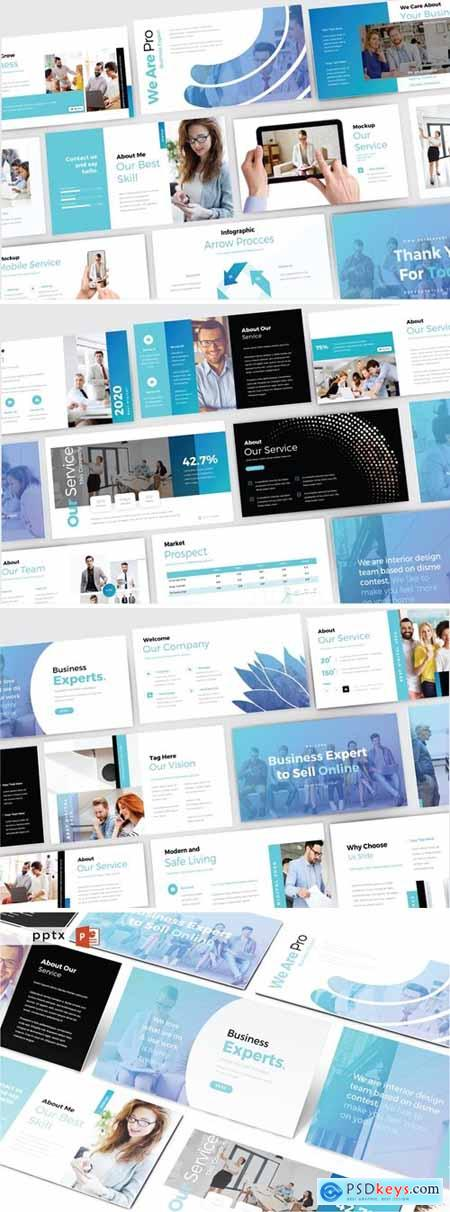 BUSINESS EXPERTS Powerpoint, Keynote and Google Slides Templates
