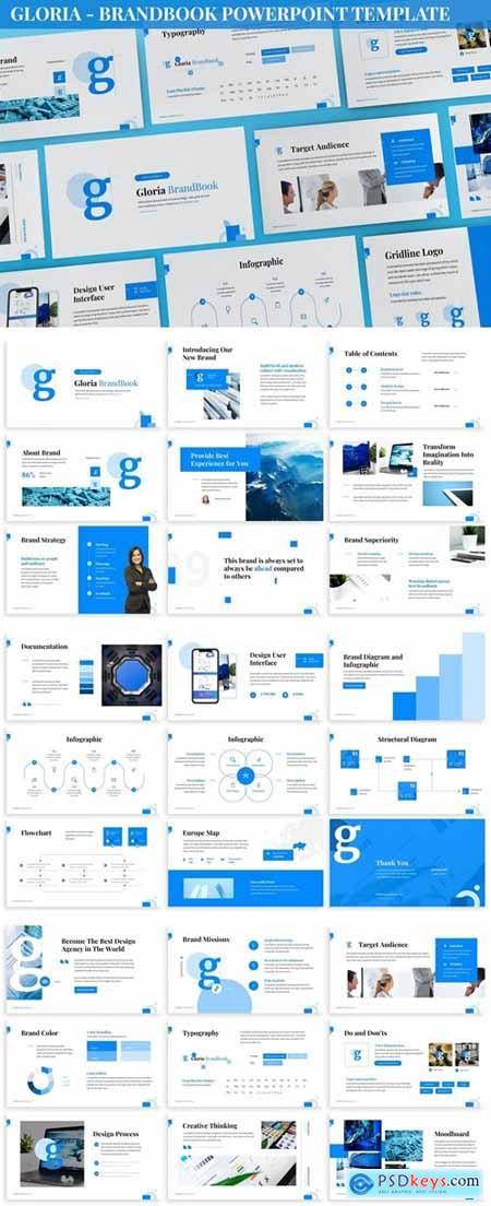 Gloria - Brandbook Powerpoint Template