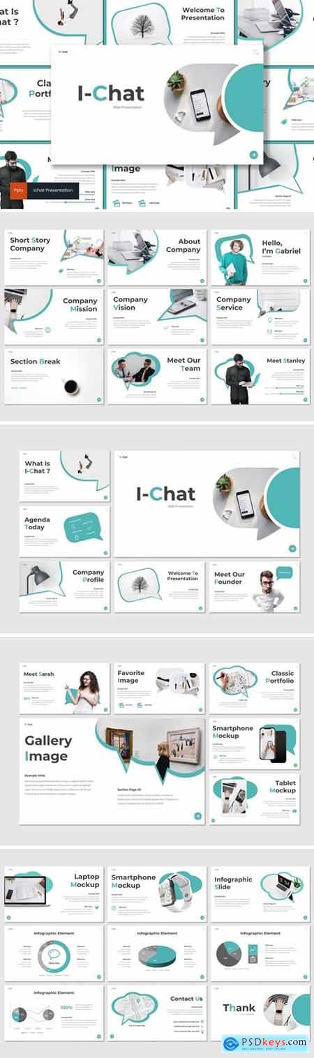Ichat Powerpoint, Keynote and Google Slides Templates