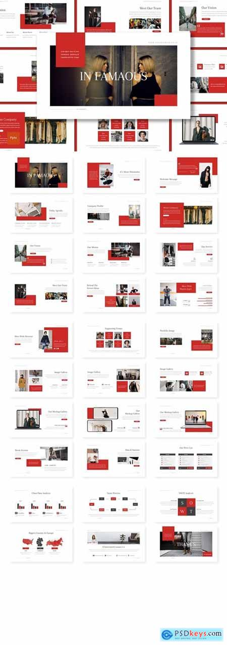 Infamous Powerpoint, Keynote and Google Slides Templates