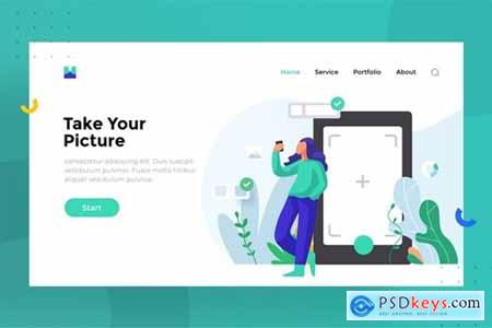 Take Your Picture Landing Page Illustration