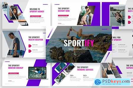 Sportify - Healthy Sport Powerpoint, Keynote and Google Slides Templates