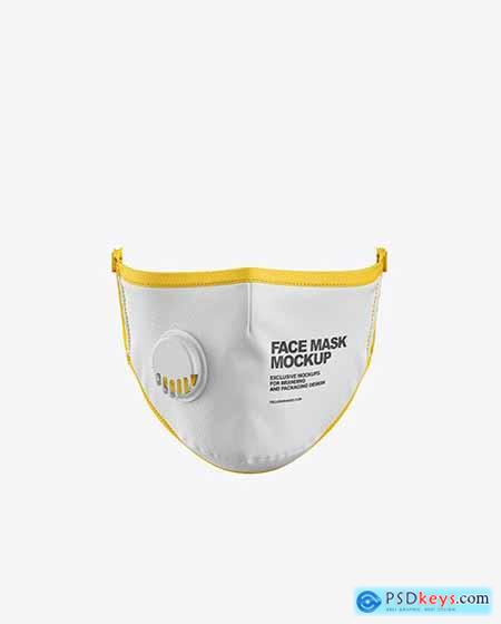 Face Mask with Valve Mockup 59001