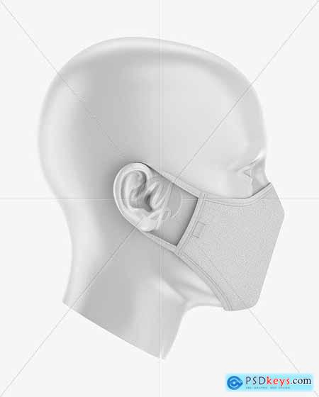 Face Mask Mockup - Side View 59006