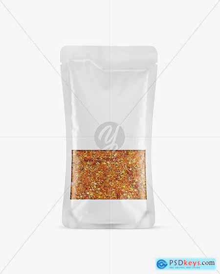 Food Bag With Seasoning Mockup 58874