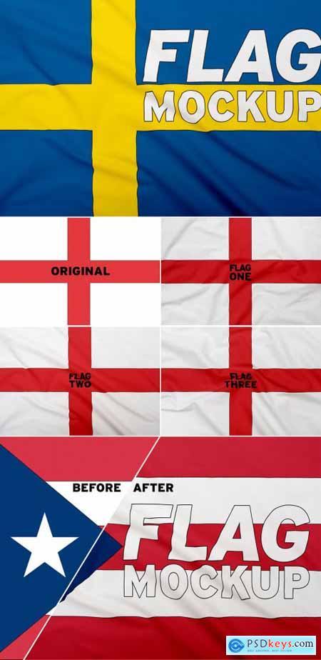 Realistic Flag Mockup 344963225