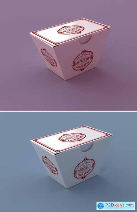 Paper Food Box Mockup 345718659