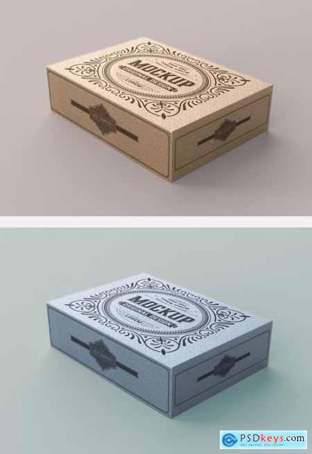 Kraft Box Mockup 345718404