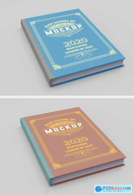 Hardcover Book Cover Mockup 345718581