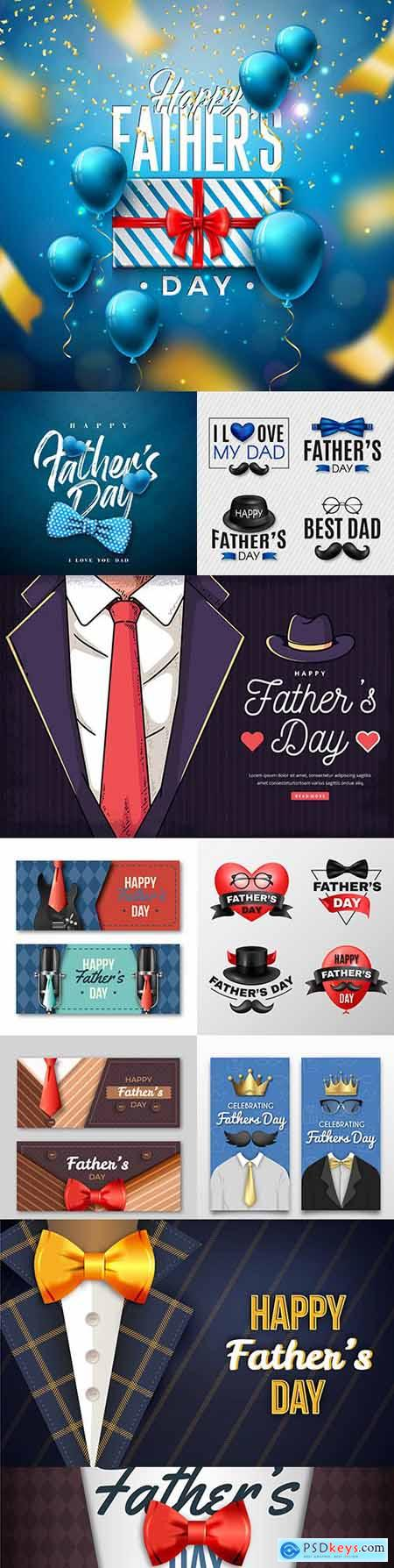 Happy Father s Day design greeting card and banner