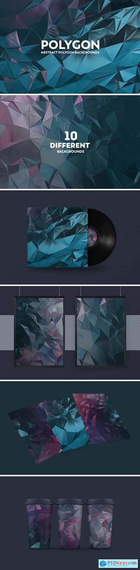 Abstract Polygon Backgrounds B7V2BB3
