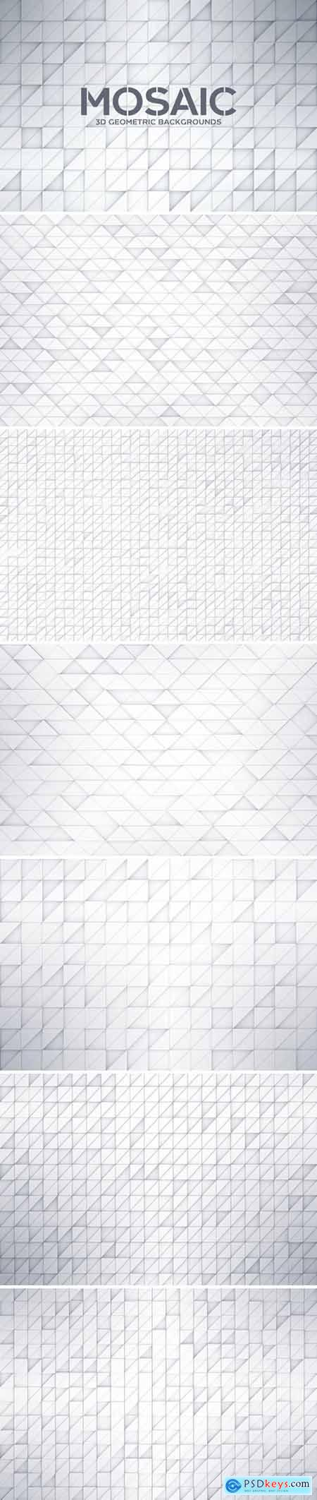 3D Geometric Mosaic Backgrounds