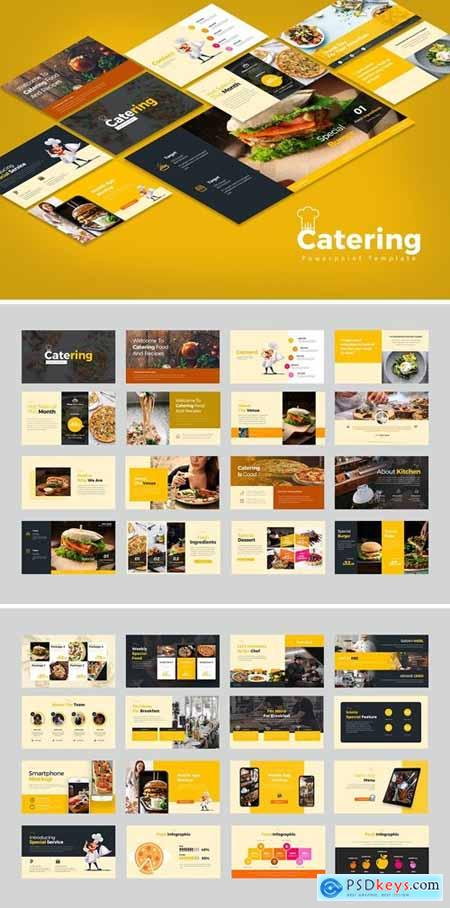 Catering Powerpoint, Keynote and Google Slides Templates