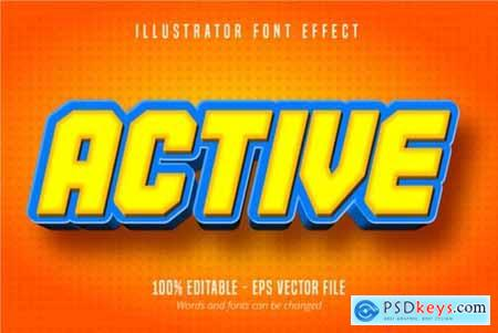 Active Cartoon Style, Text Effect