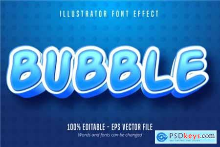 Bubble Cartoon Style, Text Effect