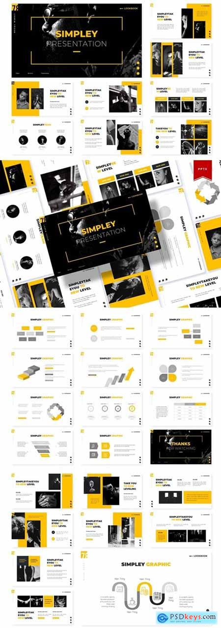 Simpley Powerpoint, Keynote and Google Slides Templates