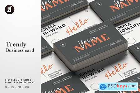 Trendy - Business card template