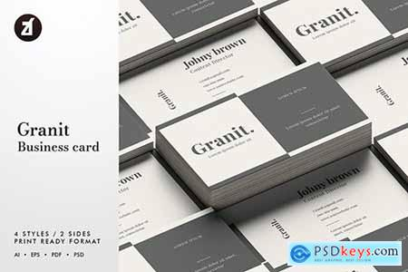 Granit - Business card template
