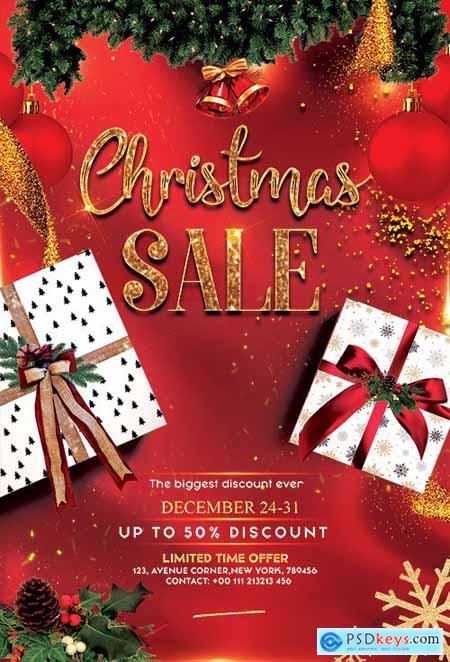 Christmas Sale - Premium flyer psd template