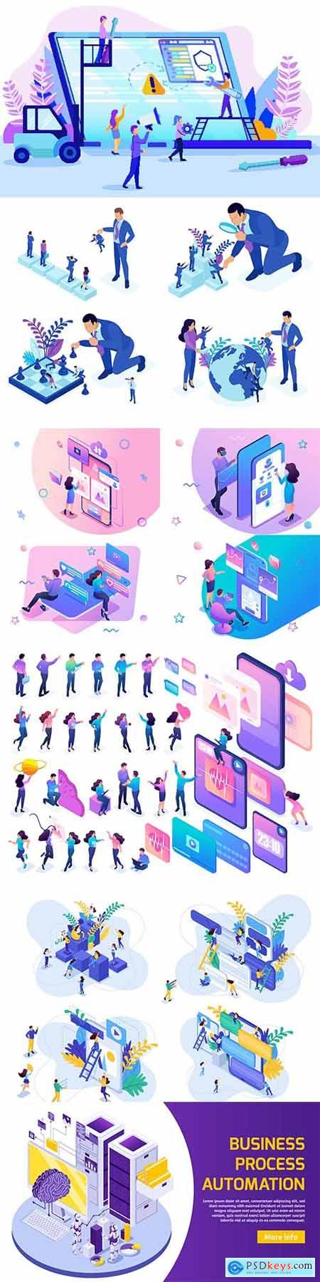 Flat isometric vector 3D concept illustration 62