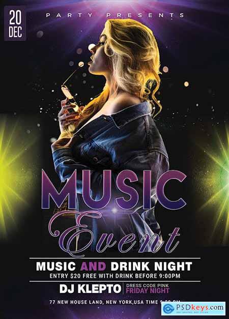 Music Event - Premium flyer psd template