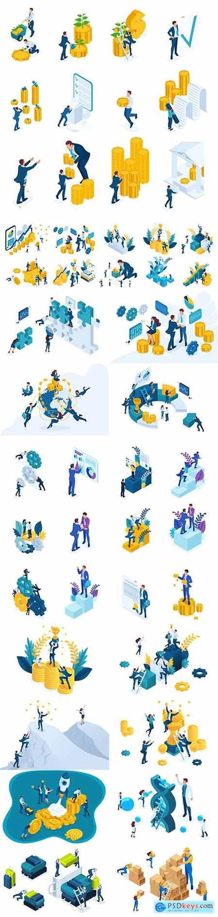 Flat isometric vector 3D concept illustration 60