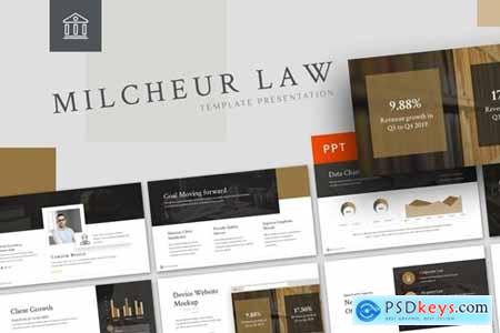 Milcheur - Law Powerpoint, Keynote and Google Slides Templates