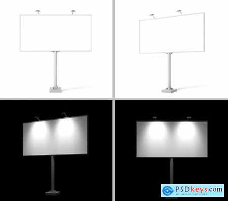 Billboard Mock-Ups Day & night view 3435250