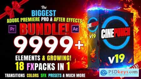 CINEPUNCH BUNDLE - Transitions Color LUTs Pro Sound FX 9999+ VFX Elements Bundle 20601772 - Version 18