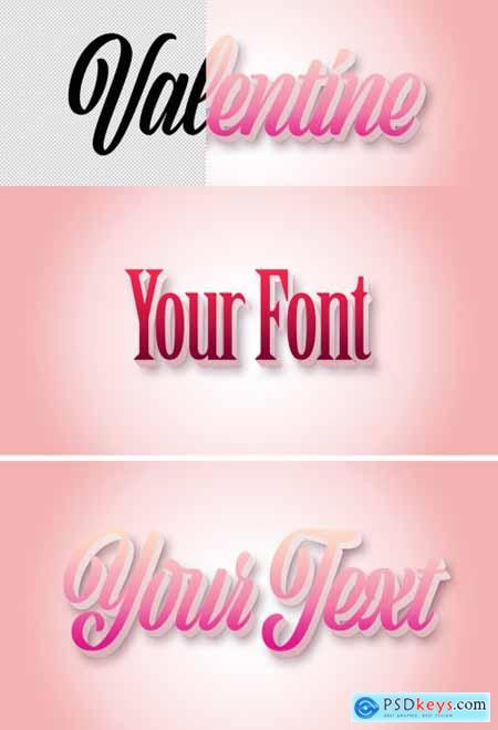 Valentine 3D Text Effect Mockup 317535935