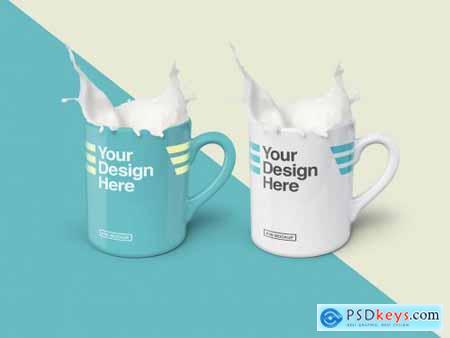 2 Mugs Mockup 250287114