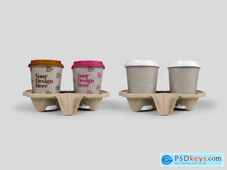 Takeout Cups in Holder Mockup 317333225