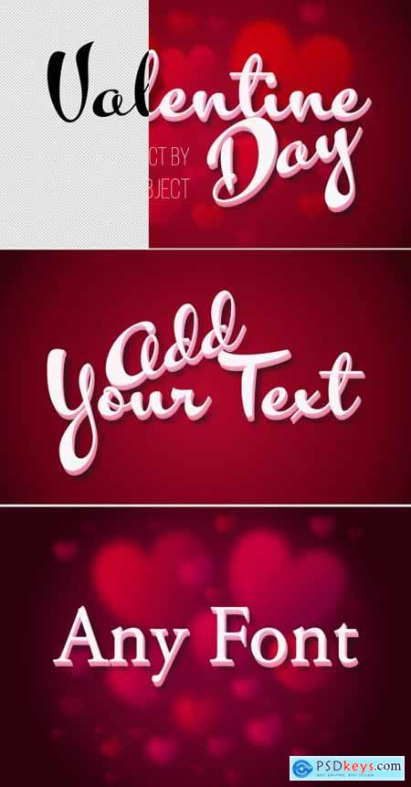 Valentines Day 3D Text Effect Mockup 317544778